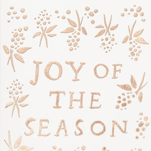 Joy Of The Season Mini Foil Card