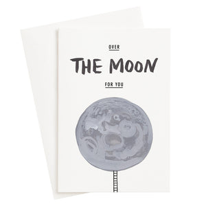 Over The Moon Card