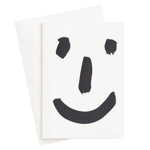 Happy Face Letterpress Card