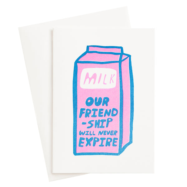Friendship Milk Risograph Card