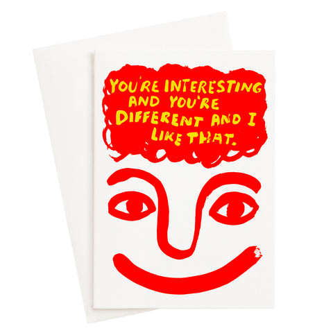 Interesting and Different Risograph Card
