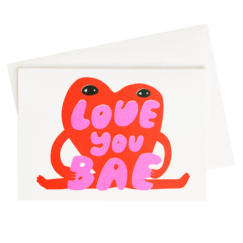 Love You Bae Risograph Card (Sold Out)