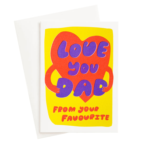 Love You Dad Risograph Card