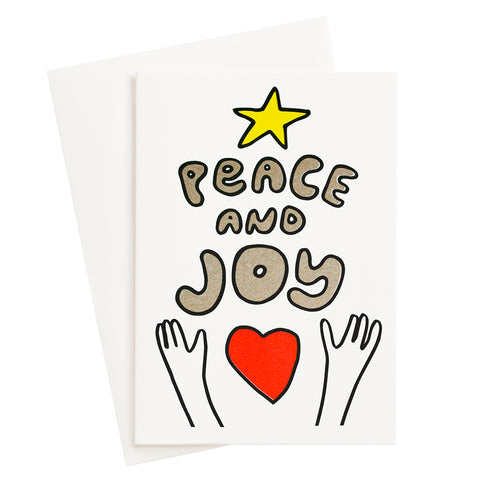 Peace and Joy Risograph Card