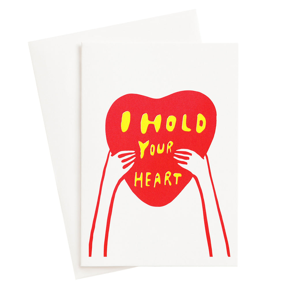I Hold Your Heart Risograph Card