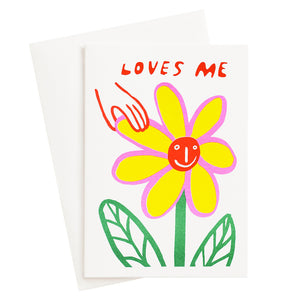 Loves Me Risograph Card