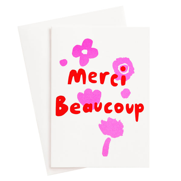 Merci Beaucoup Risograph Card