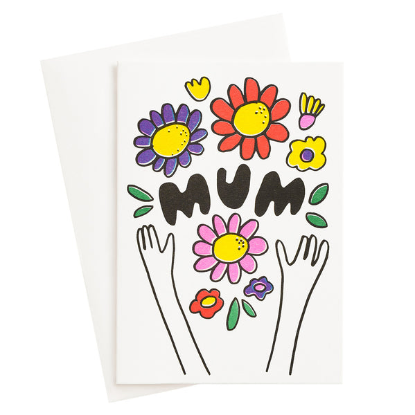 Mum Bouquet Risograph Card