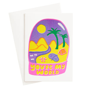 You're My World Risograph Card