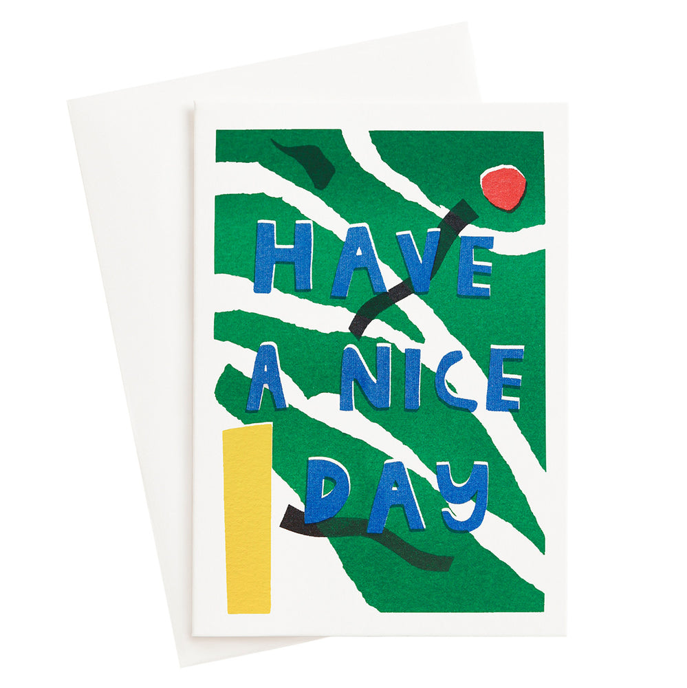 Load image into Gallery viewer, Nice Day Risograph Card