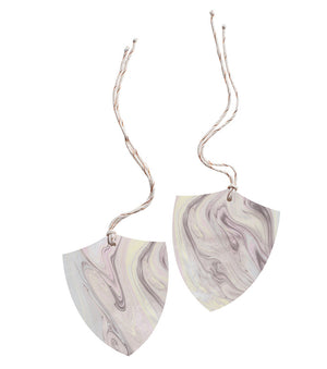 Set of 2 Marble Tags - Shield