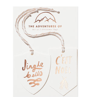 Set of 2 Foil Tags - Jingle & Noel