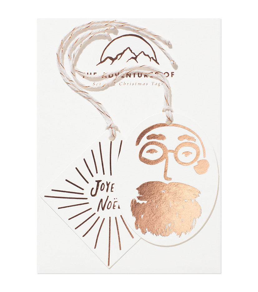 Load image into Gallery viewer, Set of 2 Foil Tags - Joyeux & Santa