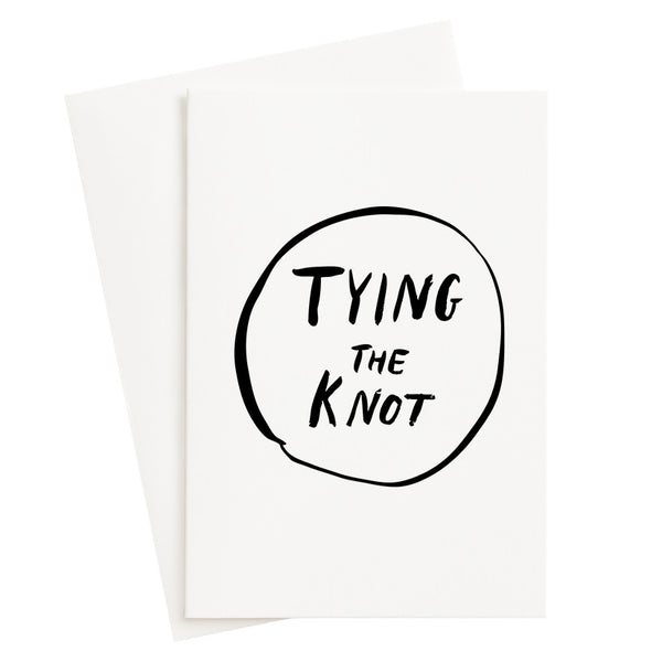 Circle Tying The Knot Foil Card