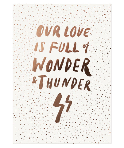 Wonder and Thunder Print (Sold Out)