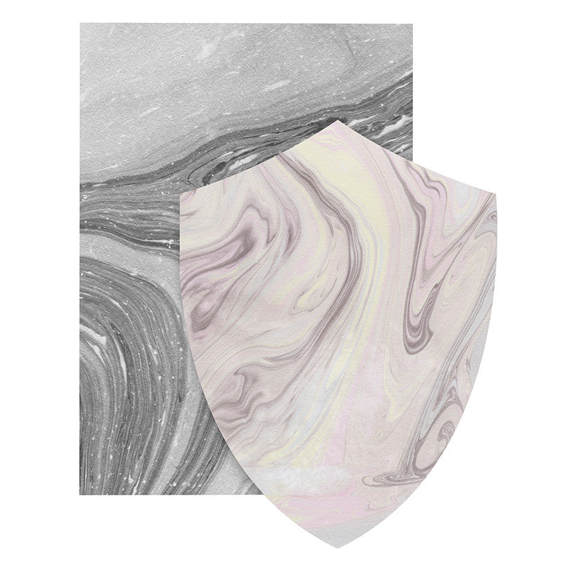 Load image into Gallery viewer, Marble Shield Card - Cloud & Blush