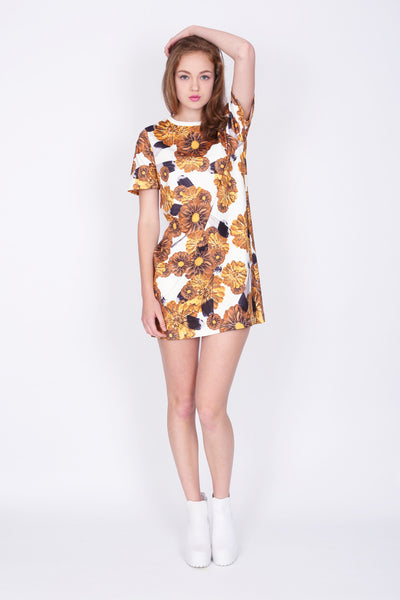 ZIZTAR Floral Lady T-Shirt Dress