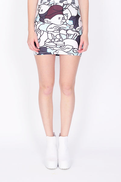 ZIZTAR Super Daemon Party Pencil Skirt