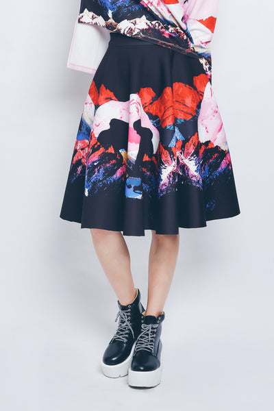 ZIZTAR Sunset Ice Hockey Midi Skirt