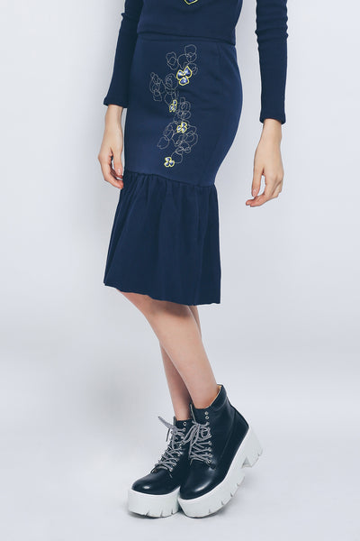 ZIZTAR Mystical Flower Midi Skirt