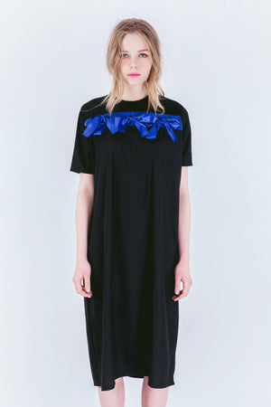 ZIZTAR Triple Ribbon T-Shirt Dress - ZIZTAR