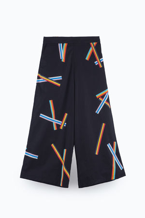 ZIZTAR National Striple Culottes Trousers - ZIZTAR