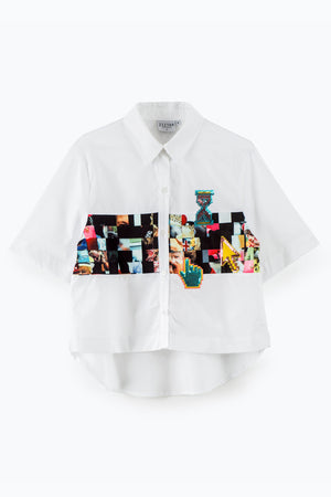 ZIZTAR Pixel Around The World Collar Shirt - ZIZTAR