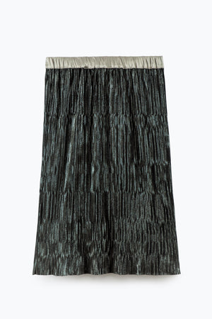 ZIZTAR Shine Your Eyes Pleated Skirt - ZIZTAR