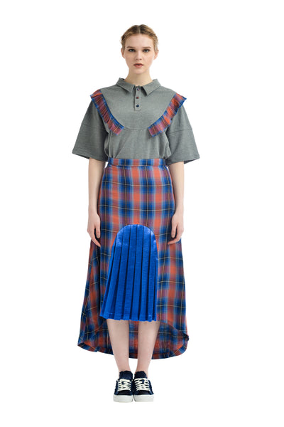ZIZTAR Checked Girl Skirt
