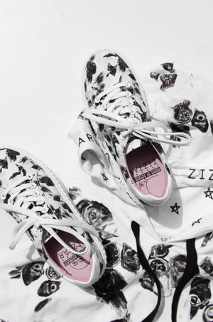 ZIZTAR Wording and French Bull Sneakers - ZIZTAR