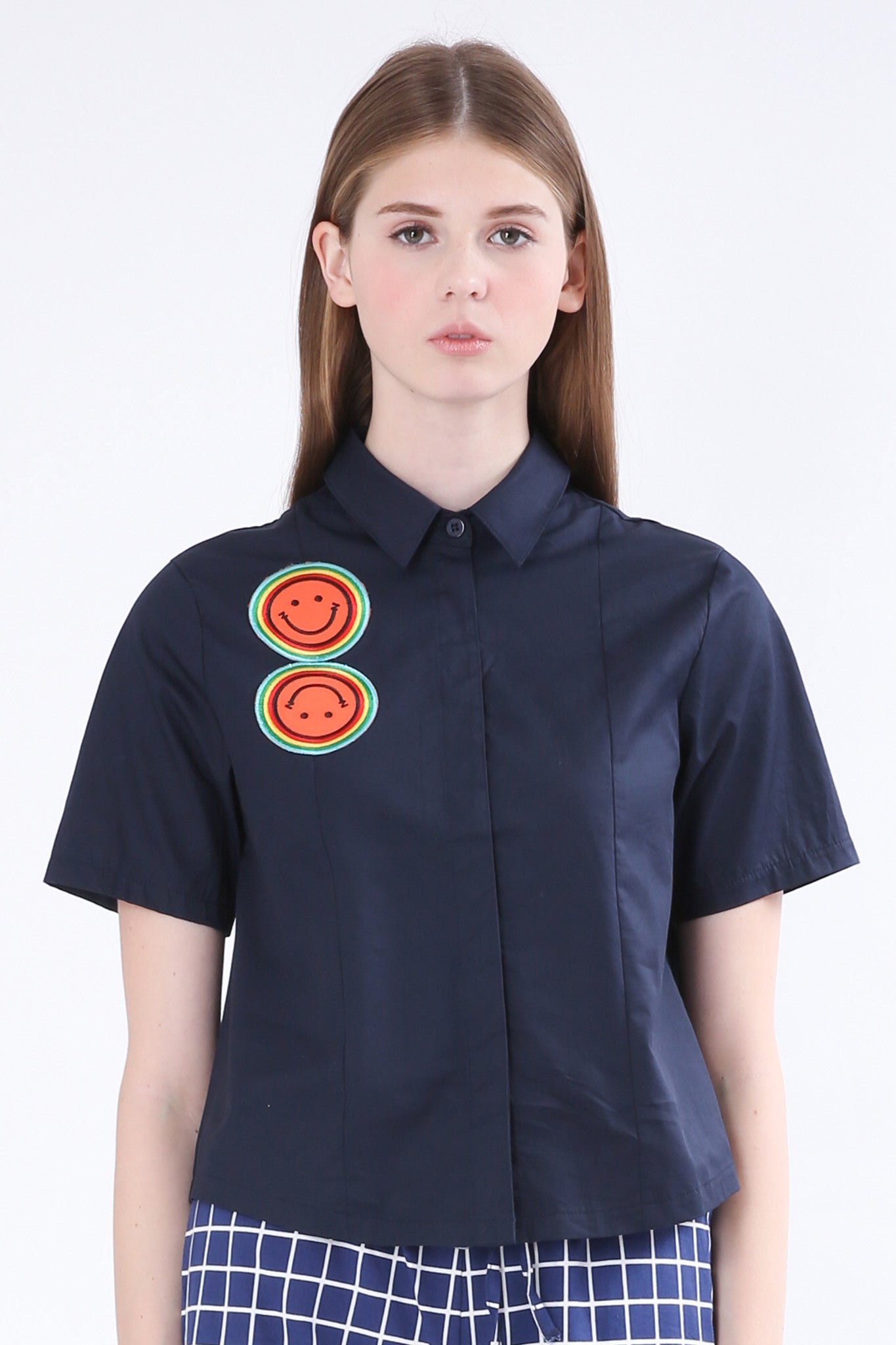 ZIZTAR Smile Collar Shirt