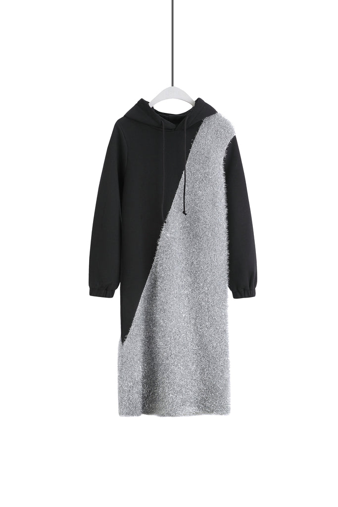 ZIZTAR Shining Hoodie Dress