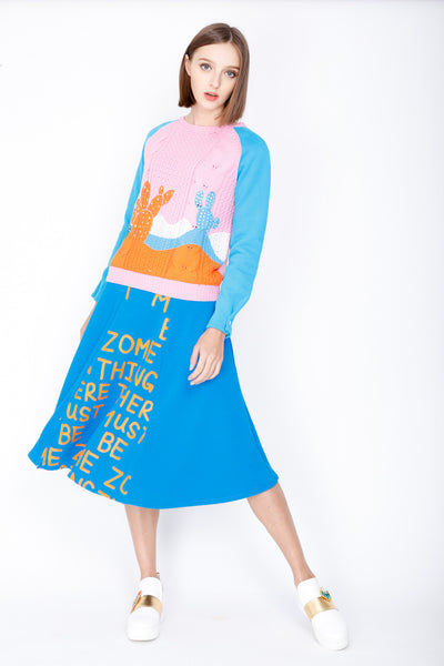 ZIZTAR Believe there must be something Midi Skirt