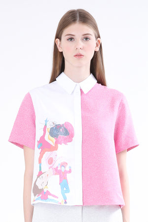 ZIZTAR Smiley People Collar Shirt - ZIZTAR