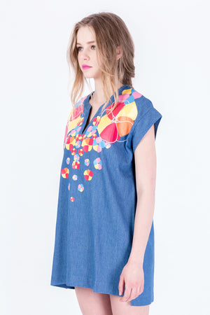 ZIZTAR Floral Joy T-Shirt Dress - ZIZTAR
