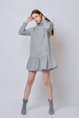 ZIZTAR Flowering Your Body Hoodie Dress