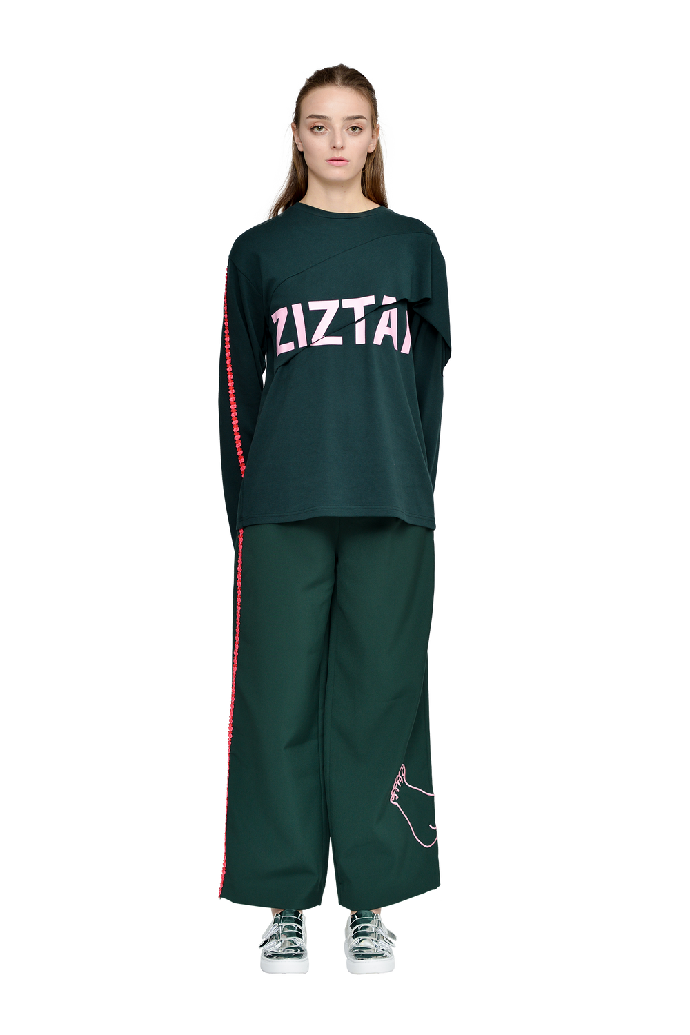 ZIZTAR Heart and Feet Wide Leg Pants - ZIZTAR
