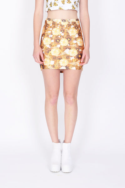 ZIZTAR Floral House Pencil Skirt