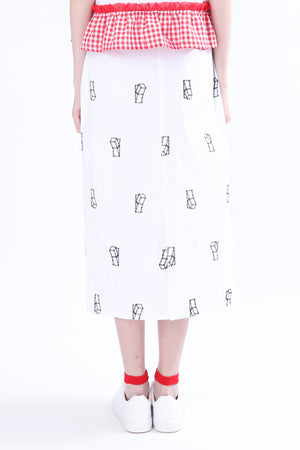 ZIZTAR Turn On Your Love, Off Your Hate Midi Skirt - ZIZTAR