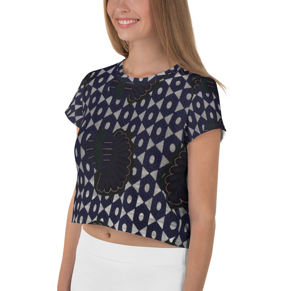 All-Over Print Crop Tee - Ba Ntu Alternative