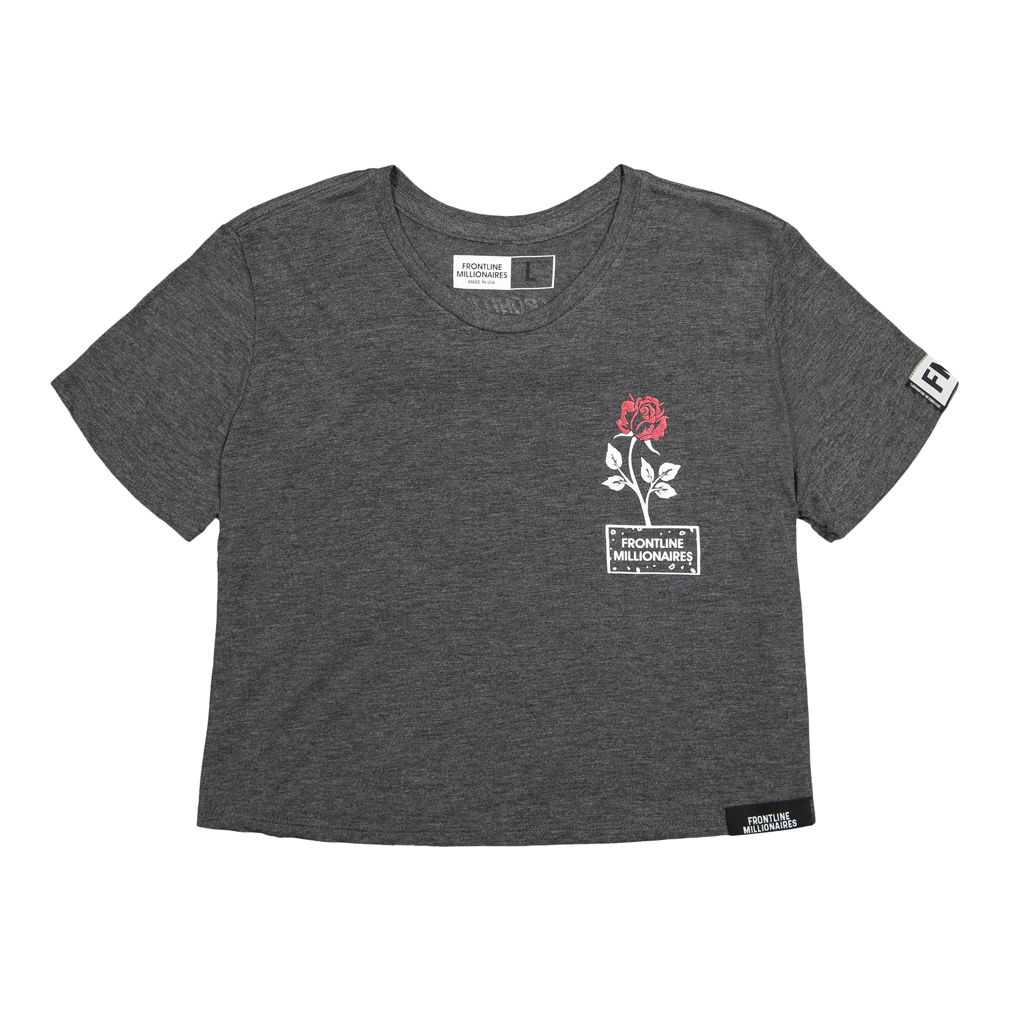 rose from the concrete crop tee