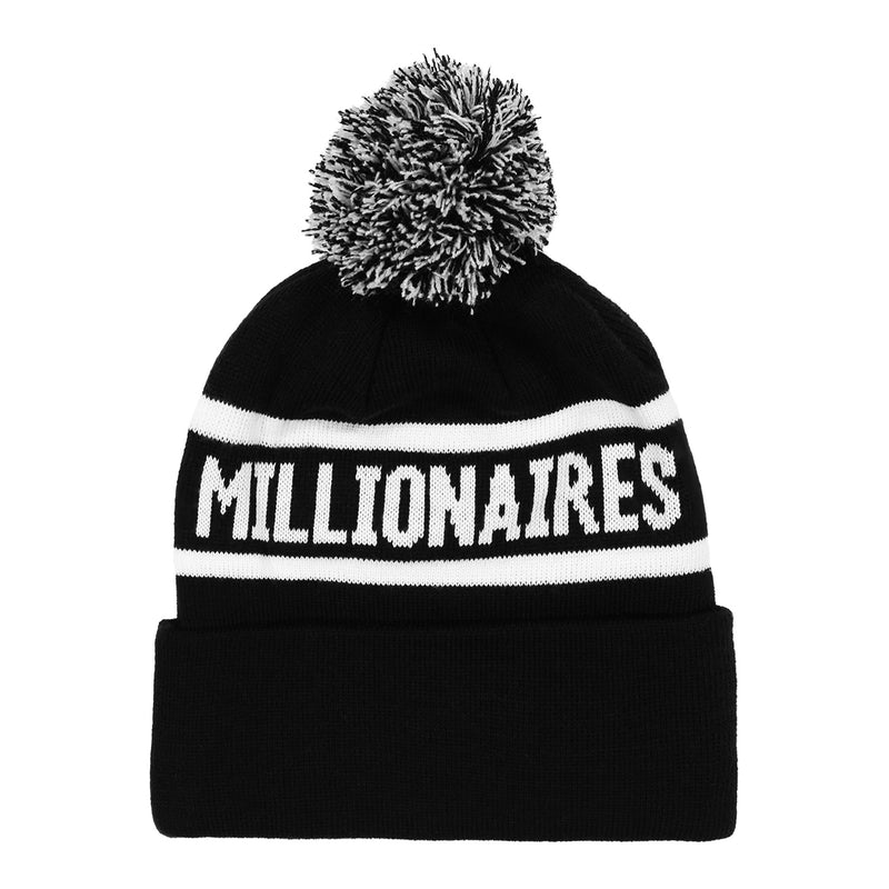 loaded bases pom knit beanie