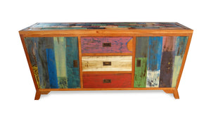 Reclaimed Boatwood Chest of Drawers