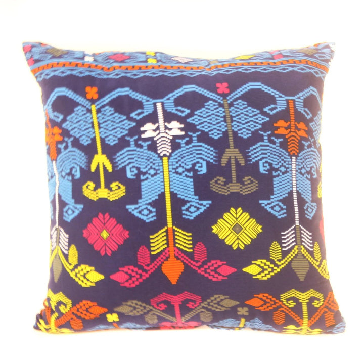 Bali Pillow, Blue Totem