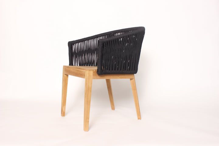 Teak and Rope Chair