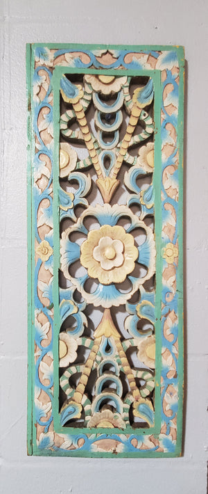 Balinese Hand Carved Wood Relief Panels