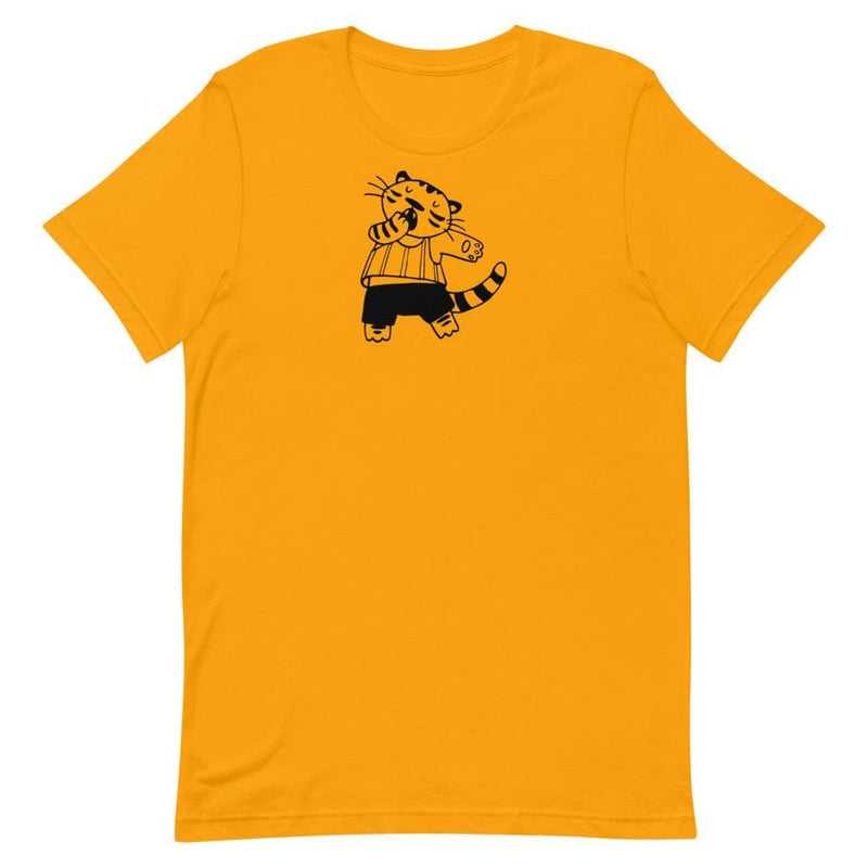 Minikin Yawning Tiger Bella + Canvas Unisex Shirt