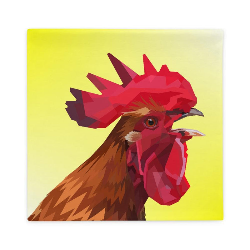 Rooster Head Pillow Case