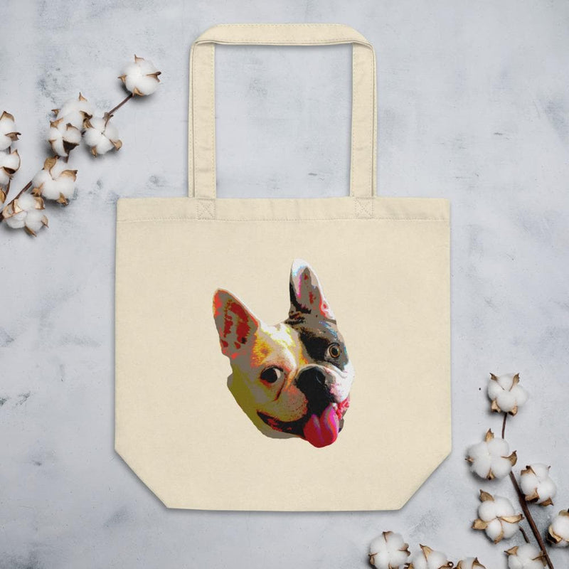 Eco Pop Art Bulldog Tote Bag-Animal Teeze