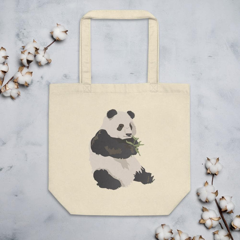Eco Nibbling Panda Tote Bag-Animal Teeze